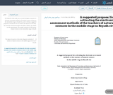 A suggested proposal for activating the electronic assessment methods of the teachers of natural sciences In the middle stage in Riyadh city