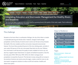 Integrating Education and Stormwater Management for Healthy Rivers and Residents