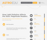 How Light Pollution Affects the Stars: Magnitude Readers