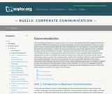 Corporate Communication (Business 210)