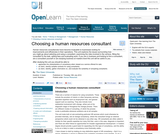 Choosing a Human Resources Consultant