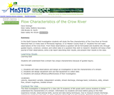 Flow Characteristics of the Crow River