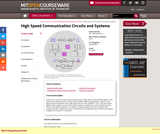 High Speed Communication Circuits and Systems