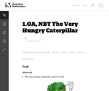 1.OA, NBT The Very Hungry Caterpillar