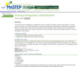 Ecology/Geography Classification
