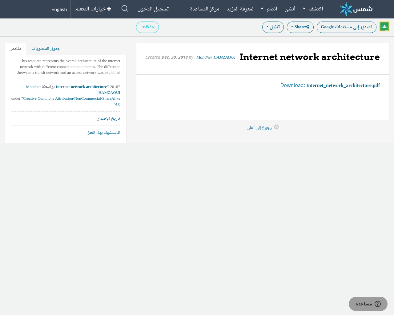 Internet network architecture | SHMS - Saudi OER Network